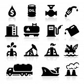 stock photo of oil well  - Oil icons - JPG