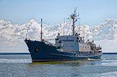 A Majestic Sea Ship Sails On A Calm Sea poster