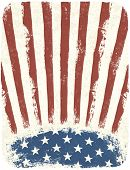 American patriotic poster background. Vintage style poster template. Raster version.