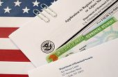 I-485 Application To Register Permanent Residence Or Adjust Status Form And Green Card From Dv-lotte poster