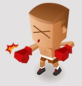 Deadly Boxing Punch. Vector Illustration