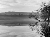 stock photo of tatas  - Mystic Lake at Sunrise - JPG