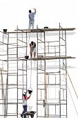stock photo of scaffolding  - Photo of Scaffold - JPG