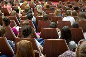stock photo of audience  - Audience at the conference hall - JPG
