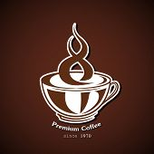 Cup of coffee, vector background