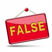 pic of tell lies  - false or wrong answer or statement telling lies - JPG