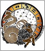 picture of capricorn  - Big Capricorn and symbols of all zodiac signs - JPG