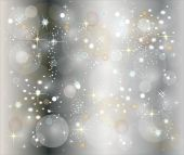 pic of christmas ornament  - illustration of a silver christmas background with stars - JPG