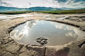 stock photo of unique landscape  - Landscape portrait from Mud Volcanoes  - JPG