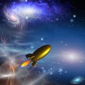 picture of starship  - Space Craft Retro - JPG