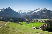stock photo of bavaria  - An image of the beautiful alps at Garmisch Partenkirchen Bavaria Germany - JPG