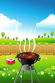 pic of pamphlet  - A vector illustration of barbeque party poster design - JPG