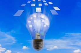 pic of ejaculation  - Light bulb with ideas ejaculation of technology - JPG