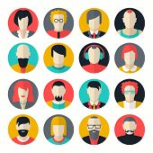 image of iroquois  - Stylized character people avatars in flat style for social networks - JPG