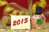 picture of talisman  - new year 2015 with talisman and clover leaf - JPG