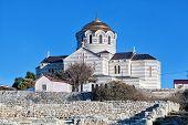 foto of sevastopol  - Vladimirsky Cathedral in Chersonese Sevastopol the Crimea - JPG