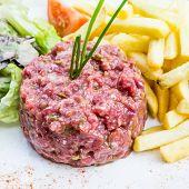 foto of tartar  - tasty Steak tartare  - JPG