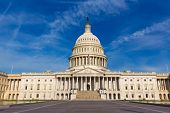 stock photo of capitol building  - Capitol building Washington DC eastern facade USA US congress - JPG
