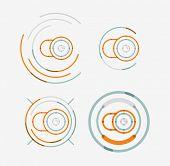foto of neat  - Thin line neat design logo set - JPG