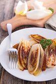 stock photo of chicory  - fried chicory - JPG