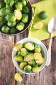 image of brussels sprouts  - brussel sprouts - JPG