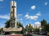 Monument of city establish in Volgograd Russia horizontal poster
