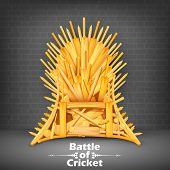 stock photo of throne  - illustration of Throne made of Cricket bats - JPG