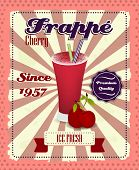 foto of frappe  - Cherry frappe poster with fruit - JPG