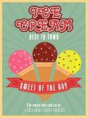 stock photo of ice cream parlor  - Stylish vintage menu card design for ice cream parlor or restaurant - JPG