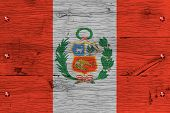 stock photo of bolt  - Peru national flag - JPG