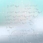 picture of mathematics  - Abstract Blurred Background with mathematical formulas - JPG