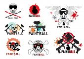 picture of paintball  - Set of  paintball logo - JPG