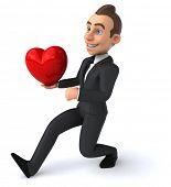 stock photo of prince charming  - Fun businessman - JPG