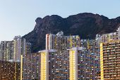 foto of overpopulation  - Kowloon residential district - JPG