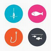 foto of fishing bobber  - Circle buttons - JPG