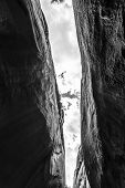 pic of buckskin  - Black and White Dry Fork Narrows of Coyote Gulch - JPG