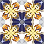 picture of symmetrical  - Beautiful symmetrical pattern of the flower petals in fractal design - JPG