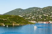 pic of virginity  - Luxury boats in the harbor of Charlotte Amalie off the coast of St Thomas in the US Virgin Islands - JPG