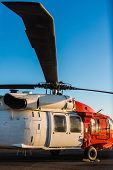 foto of military helicopter  - big military helicopter at the airport closeup - JPG