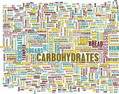 stock photo of carbohydrate  - Carbohydrates Weight Loss Concept with Removing It - JPG