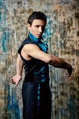 pic of ballet dancer  - Portrait of a handsome man ballet dancer - JPG