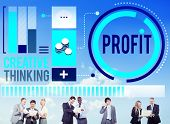 picture of revenue  - Profit Revenue Income Improvement Growth Success Concept - JPG
