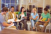 foto of attention  - Attentive creative business people in meeting at office - JPG