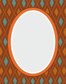 stock photo of oval  - On a brown background - JPG