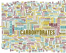 foto of carbohydrate  - Carbohydrates Weight Loss Concept with Removing It - JPG