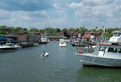 image of u-boat  - View of a busy Annapolis harbor home of U - JPG