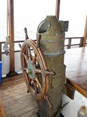 Ships Wheel, Brass Binnacle