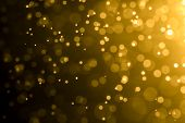Abstract Bokeh Background With Blur Style. It Looks Bright And Bokeh Glittering. You Can Apply For W poster
