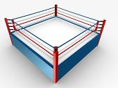 foto of boxing ring  - 3d rendered illustration of a boxing ring - JPG