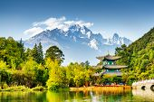 Scenic View Of The Jade Dragon Snow Mountain, China poster